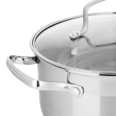 822-101 Кастрюля 3,5 л VETTA Берн, со стеклянной крышкой, индукция