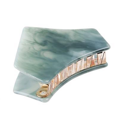 324-115 Заколка-краб для волос, металл, акрил, 6,5 см, 6 цветов