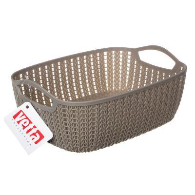 406-120 Корзинка вязаная, пластик, 29х21х10,5 см, VETTA