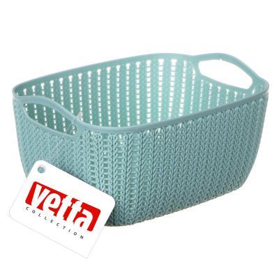 406-121 Корзинка вязаная, пластик, 21х16х10 см, VETTA