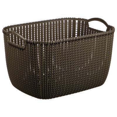 406-126 Корзинка вязаная, пластик, 38х28х23 см, 4 цвета, VETTA