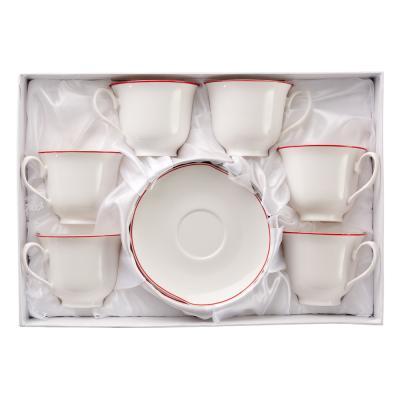 821-519 MILLIMI Беата Набор чайный 12 пр., 240мл, костяной фарфор