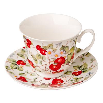 821-524 MILLIMI Земляничная поляна Набор чайный 4 пр., 250мл, костяной фарфор