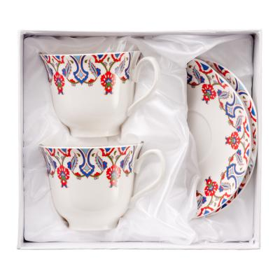 821-527 MILLIMI Фаина Набор чайный 4 пр., 240мл, костяной фарфор
