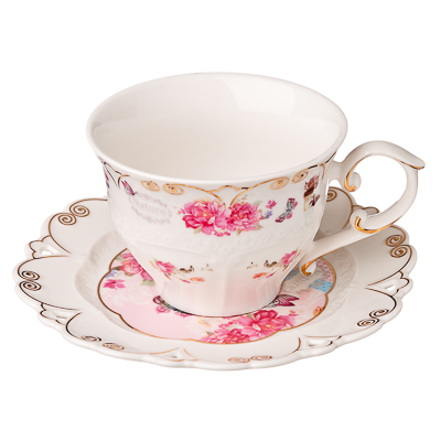 821-544 MILLIMI Виола Набор чайный 12 пр., 200мл, костяной фарфор