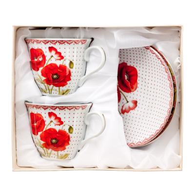 821-589 Маков цвет Набор чайный 4 пр., 220мл, фарфор