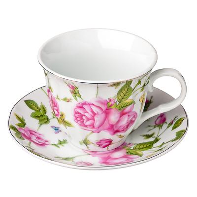 821-595 Летний сад Набор чайный 12 пр., 220мл, фарфор