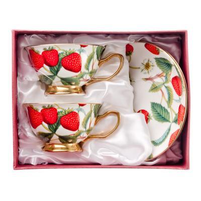 821-611 MILLIMI Земляничный пунш Набор чайный 4 пр., 200мл, костяной фарфор