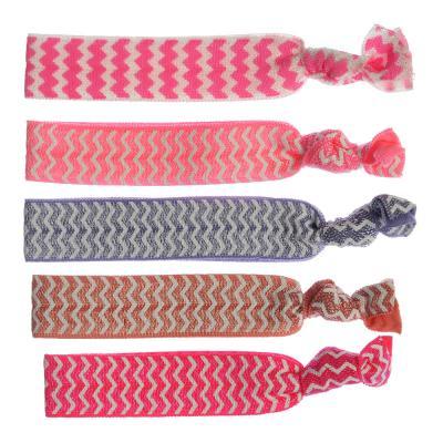322-138 Набор резинок для волос, 5шт., полиэстер, 9,5 см, 4 дизайна, #9