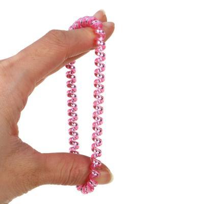 322-146 Набор резинок-спиралек для волос, 6шт., пластик, 5,5 см, 6 цветов, #17