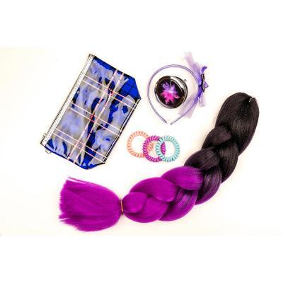322-148 Набор резинок-спиралек для волос, 6шт., пластик, полиэстер, 5,5 см, 6 цветов, #19