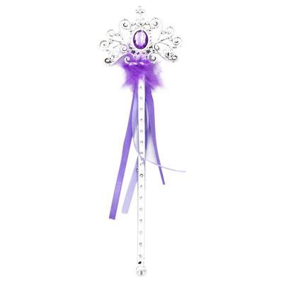 341-091 СНОУ БУМ Волшебная палочка, пластик, полиэстер, 32см, 4 цвета, арт.4001