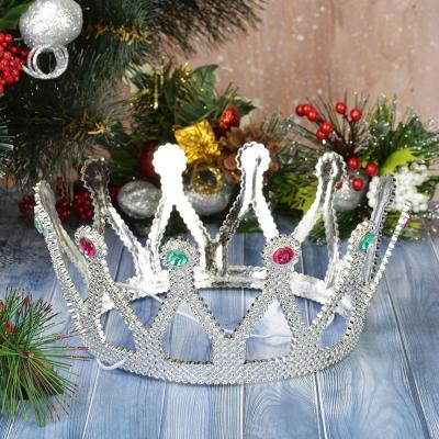 341-116 СНОУ БУМ Корона карнавальная, пластик, 8,5х15см, 2 дизайна, арт.6003