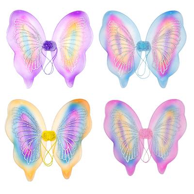 342-065 Костюм карнавальный крылья бабочки, полиэстер, 42х44 см, 4 дизайна, СНОУ БУМ