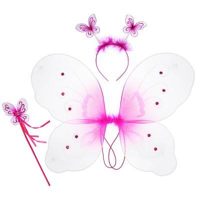 342-069 Костюм карнавальный с крылышками 3 предмета, полиэстер, 35х42 см, 3 дизайна, СНОУ БУМ