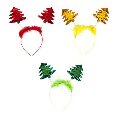 343-086 Ободок карнавальный, пластик, полиэстер, 23х17 см, 3 цвета, СНОУ БУМ