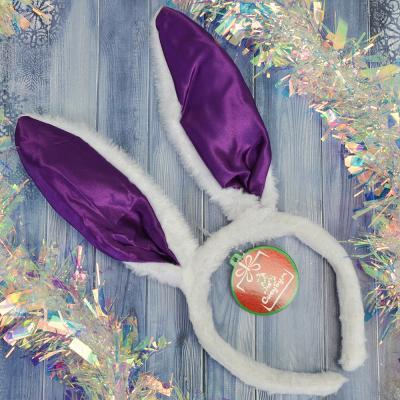 343-087 Ободок карнавальный, пластик, полиэстер, 27х16 см, 3 цвета, СНОУ БУМ