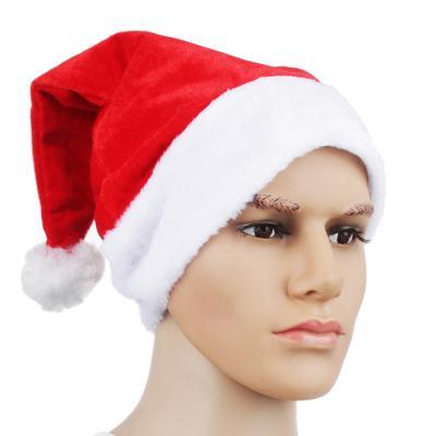 388-046 Колпак Деда Мороза СНОУ БУМ полиэстер, 40х30см, арт.1110