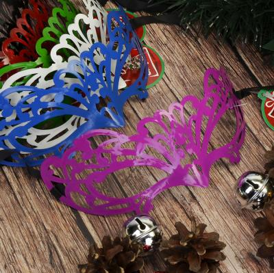 391-183 СНОУ БУМ Маска карнавальная, 7х16см, пластик, полиэстер, 6 цветов, арт.006
