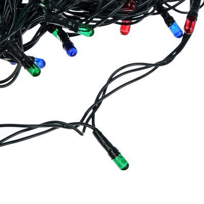 384-045 СНОУ БУМ Гирлянда электрическая вьюн 2.5м, 25 ламп,мультицвет, 8 реж, зеленый провод, 220В