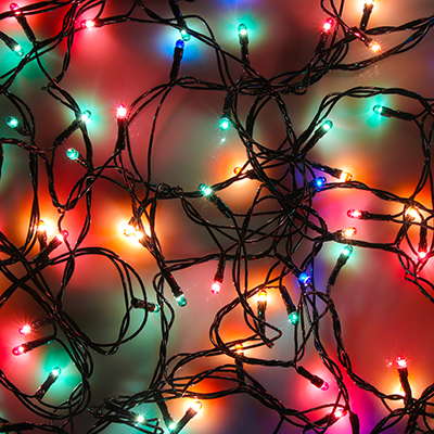 384-046 СНОУ БУМ Гирлянда электрическая вьюн 6м, 70 ламп,мультицвет, 8 реж, зеленый провод, 220В