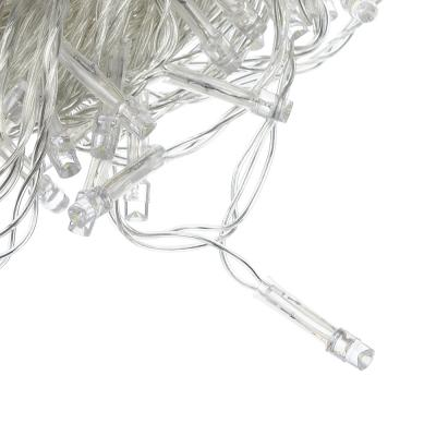 384-048 СНОУ БУМ Гирлянда электрическая вьюн 9м, 100LED, изумрудный, 8 реж, прозр.провод, 220В