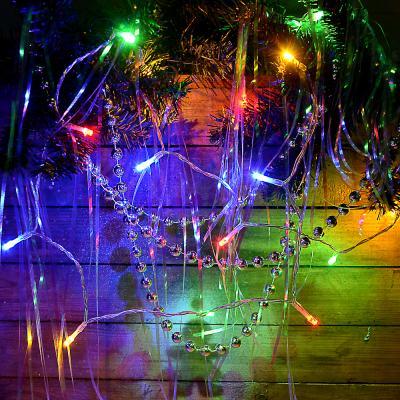 384-053 Гирлянда светодиодная Вьюн СНОУ БУМ 1,5м, 15 LED, мультицвет, 1 реж, 3,6В от 2АА