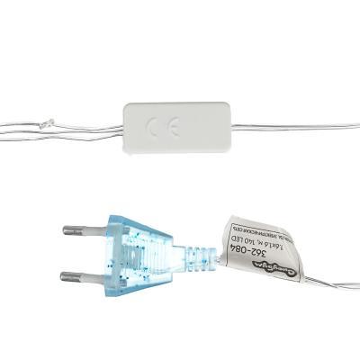 "362-084 Гирлянда электрическая сетка СНОУ БУМ 140 LED,1,6x1,6 м,мерцание 10led,""Звездное небо"",сине-белый"