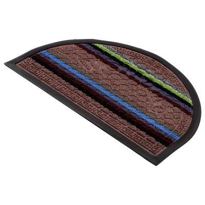466-294 VETTA Коврик придверный, ворсовый с резиновой каймой, полукруг 40x60см, 3 дизайна
