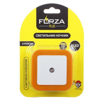 Ночник в розетку 220-240В, пластиковый с датчиком освещения LED, 4 цвета-1