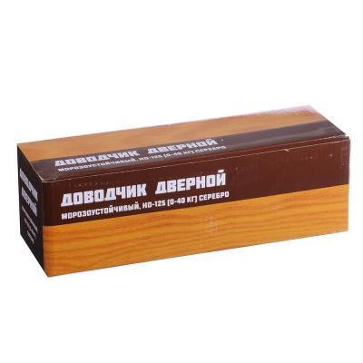 601-009 KORAL Доводчик дверной, морозоустойчивый, HD-125 (0-40кг) серебро