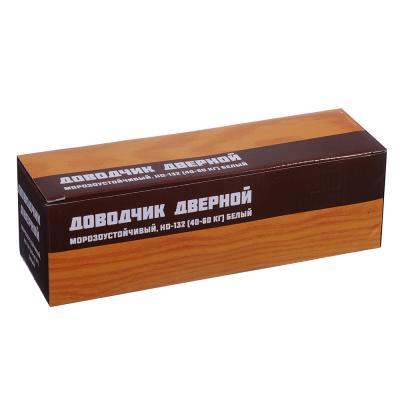 601-010 KORAL Доводчик дверной, морозоустойчивый, HD-132 (40-60кг) белый