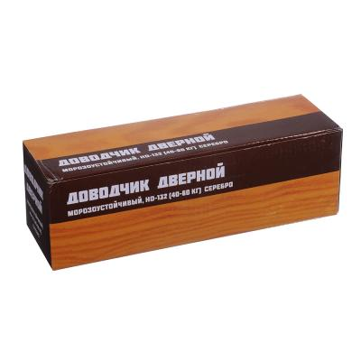 601-011 KORAL Доводчик дверной, морозоустойчивый, HD-132 (40-60кг) серебро