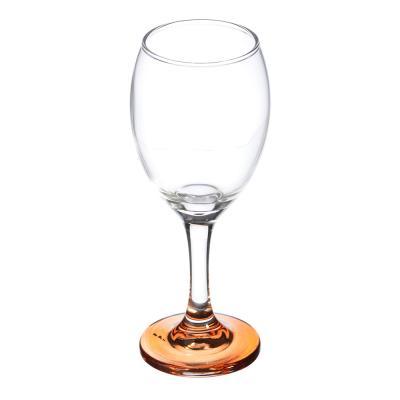 878-323 Бокал для вина на ножке из цветного стекла, 250мл, стекло, 6 цветов