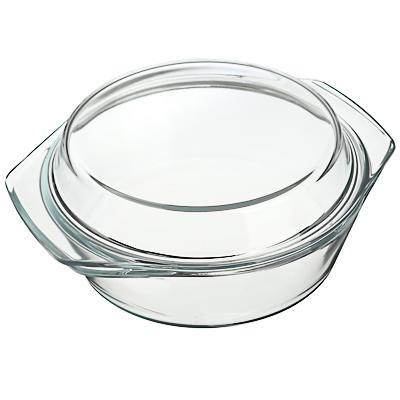825-001 Кастрюля жаропрочная с крышкой, стекло, 1,4л, SATOSHI