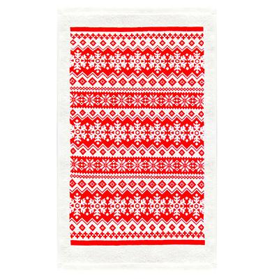434-022 VETTA Снежинка красная Полотенце, 38х63см, хлопок, дизайн GC