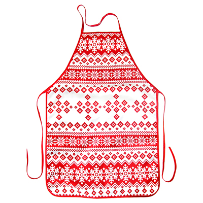 494-011 VETTA Снежинка красная Фартук, полиэстер, 51x76см, GC
