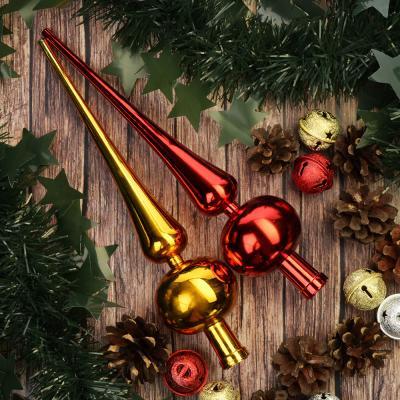 344-121 СНОУ БУМ Макушка на елку, 25см, пластик, 2 дизайна: золото, красный,AR2/66L1001A/ASST