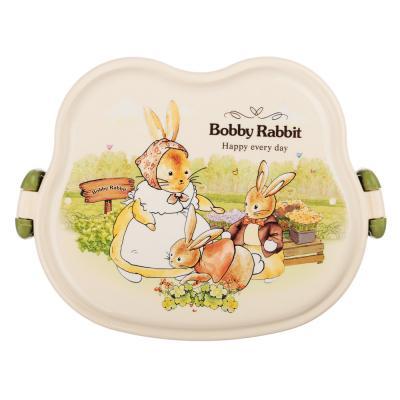 """829-143 Ланчбокс детский квадратный 16,5х12 см, """"Зайчата"""""""