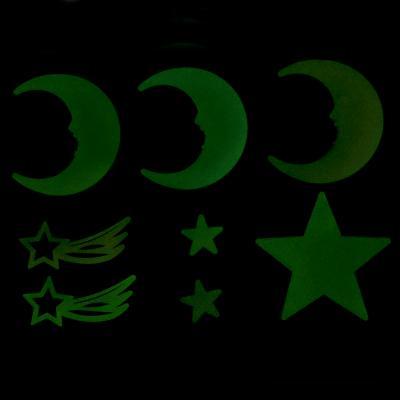 503-507 Набор наклеек флуоресцентных (6-10шт), пластик, 19х14см, 6 дизайнов