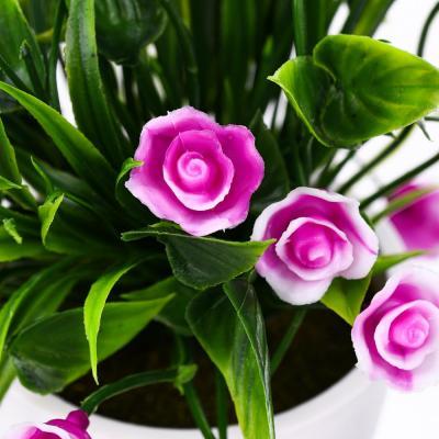 501-511 Цветок искусственный в горшке, 18х12х12см, пластик, 3 цвета