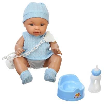 267-549 ИГРОЛЕНД Кукла функциональная с аксессуарами, 12 звуков, пьет, пластик, текстиль, 30см, 2 дизайна