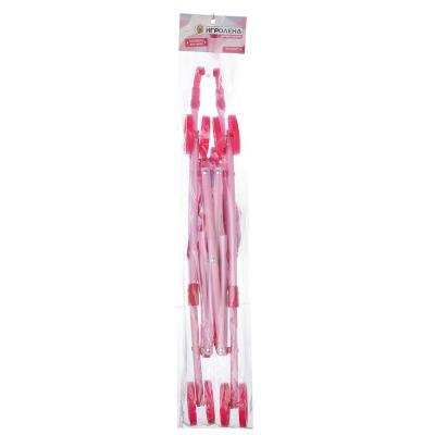 267-550 ИГРОЛЕНД Коляска для кукол прогулочная розовая, пластик, текстиль, 47,5х20х37см, 200058993