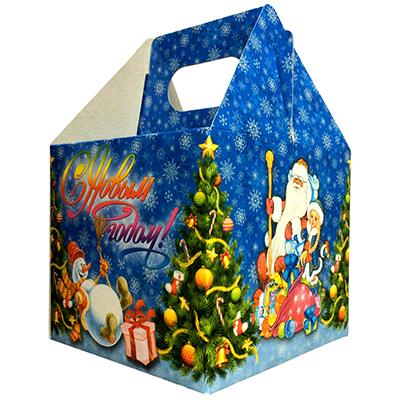 """369-291 СНОУ БУМ Коробка для конфет """"С Новым Годом!"""", 11х11х10см"""