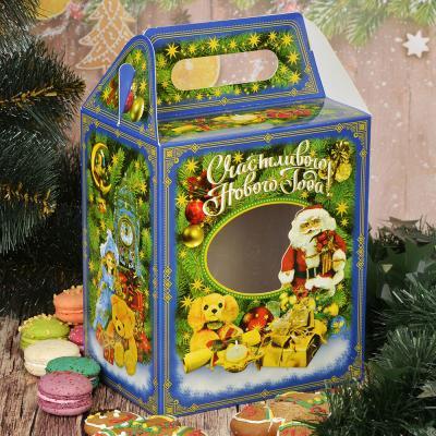 """369-298 Коробка для конфет, 19,7х16,7х11,7 см, """"Домик"""", с окошком"""