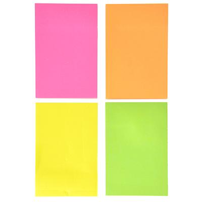 533-014 Блок для записей с клеевым краем неоновый, 51x76 мм, 100 листов,  4 цвета
