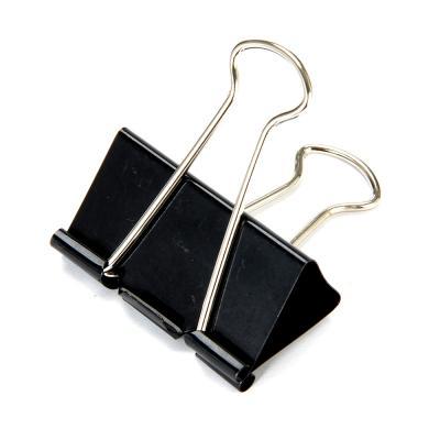 588-008 Набор зажимов для бумаг ClipStudio металлические 51 мм, 6 штук, цвет: черный