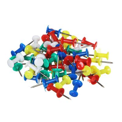 588-010 Кнопки-гвоздики канцелярские ClipStudio, 50 штук, цветные