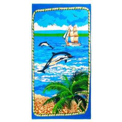 484-795 Полотенце пляжное вафельное, 80x150см