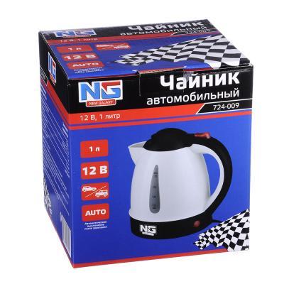 724-009 NEW GALAXY Чайник автомобильный 1,0л, 12В, пластик